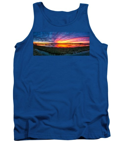 Tank Top featuring the photograph Bosque Sunrise by Kristal Kraft