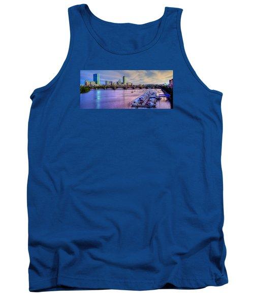 Boston Skyline Sunset Tank Top by Joann Vitali