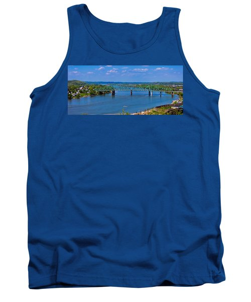 Bridge On The Ohio River Tank Top by Jonny D