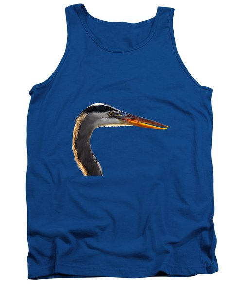 Tank Top featuring the photograph Bright Beak Blue .png by Al Powell Photography USA