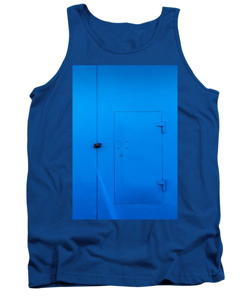 Bright Blue Locked Door And Padlock Tank Top