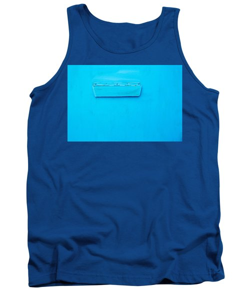 Tank Top featuring the photograph Bright Blue Paint On Metal With Postbox by John Williams