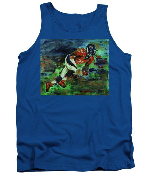 Broncos - Orange And Blue Horse Power Tank Top by Walter Fahmy