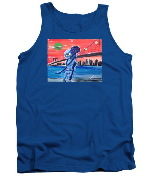 Tank Top featuring the painting Brooklyn Play Date by Similar Alien