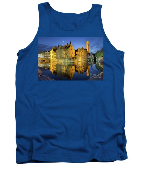 Brugge Twilight Tank Top by JR Photography