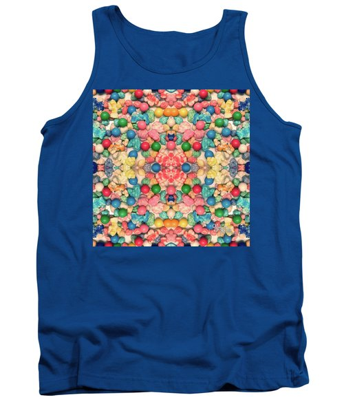 Tank Top featuring the digital art Bubble Gum #9776 by Barbara Tristan