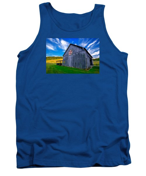 Tank Top featuring the photograph Buckeye Barn 2 by Brian Stevens