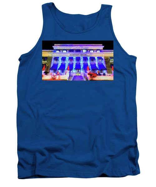 Tank Top featuring the photograph Buckstaff Baths - Christmastime by Stephen Stookey