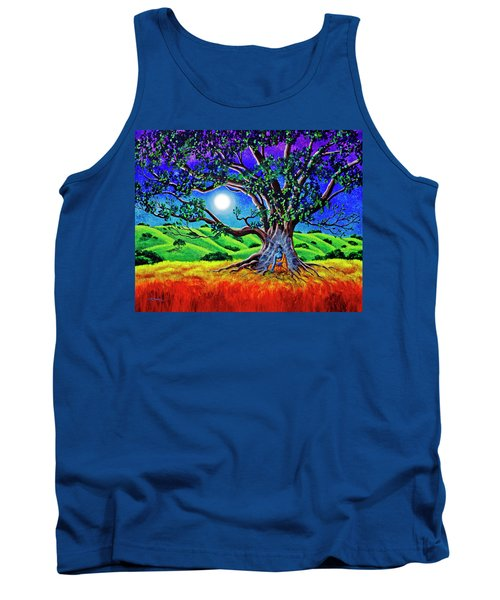 Buddha Healing The Earth Tank Top by Laura Iverson
