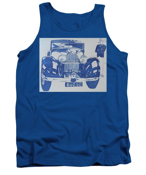 Tank Top featuring the drawing Bugatti by Mike Jeffries