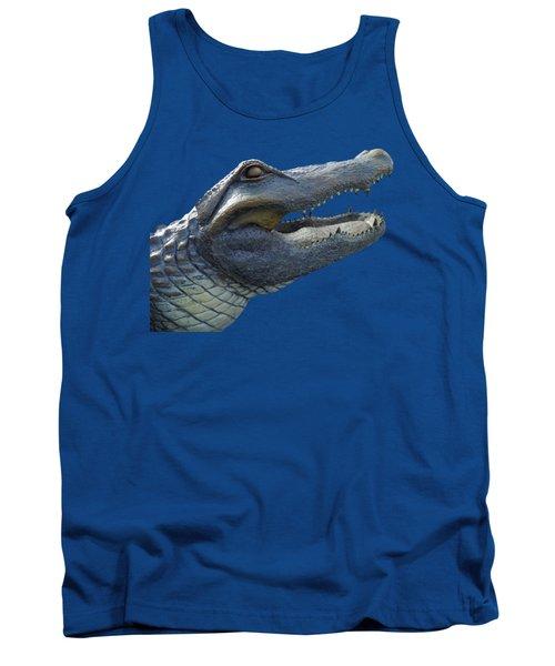 Bull Gator Portrait Transparent For T Shirts Tank Top