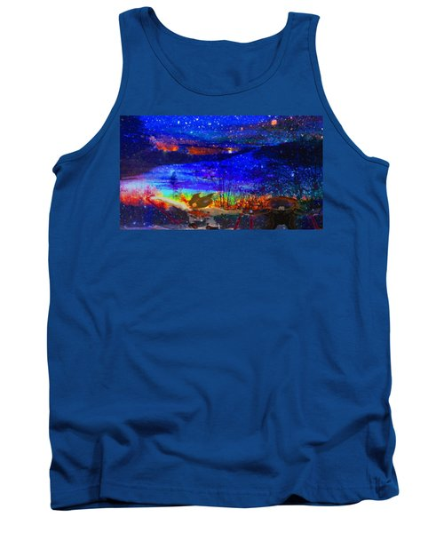 Bunnies At The Slopes Tank Top by Mike Breau