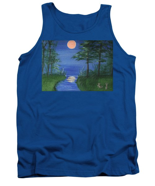 Bunnies In The Garden At Midnight Tank Top