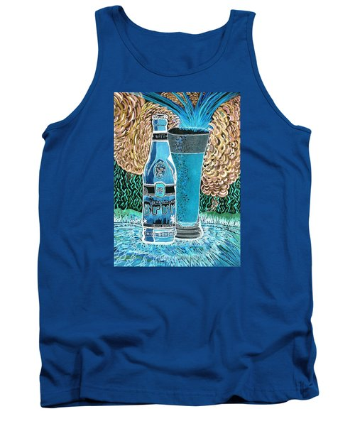 Tank Top featuring the painting Burr Hyfe Gone Real Cold by Connie Valasco