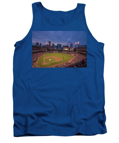 Busch Stadium St. Louis Cardinals Ball Park Village Twilight #3c Tank Top