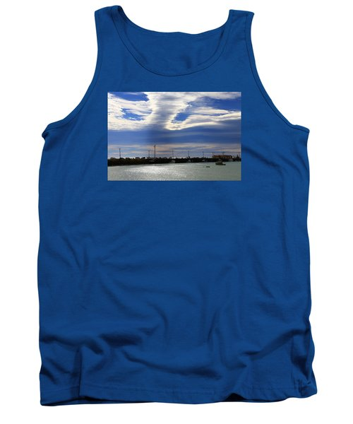Tank Top featuring the photograph Busy Day At The Wharf by Nareeta Martin