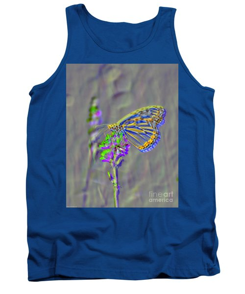 Tank Top featuring the photograph Butterfly Study by Mitch Shindelbower