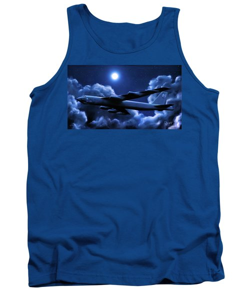 Tank Top featuring the painting By The Light Of The Blue Moon by Dave Luebbert