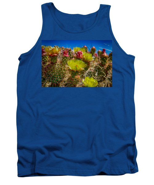 Cactus At The End Of The Road Tank Top by Bartz Johnson