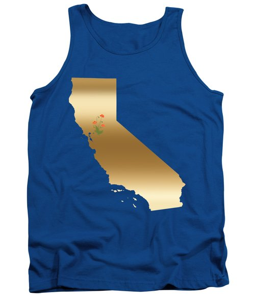 California Gold With State Flower Tank Top