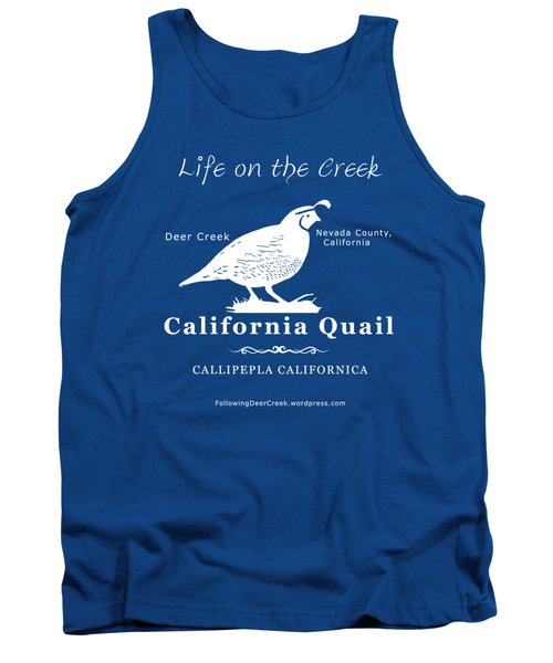 California Quail - White Graphics Tank Top