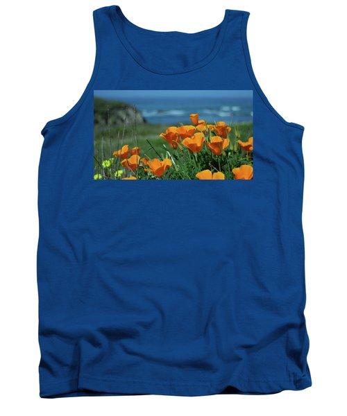 California State Flower - The Poppy Tank Top