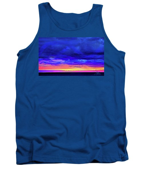 Tank Top featuring the painting California Sunrise by Joan Reese