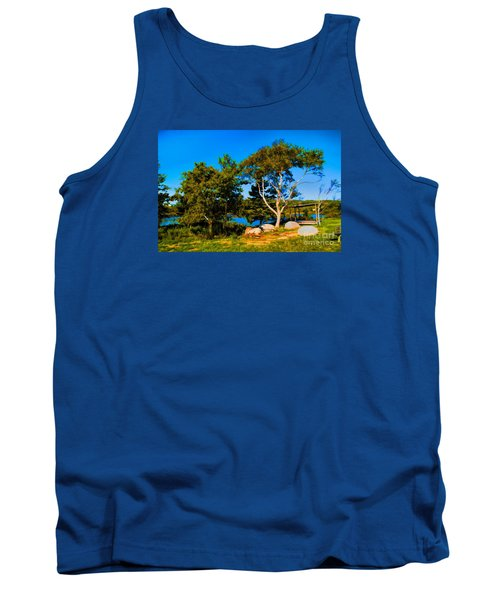 Campfire Lake Tank Top by Rick Bragan