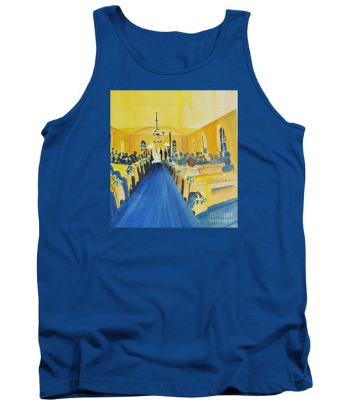 Candlelight Wedding At The Historic Ryssby Church Tank Top