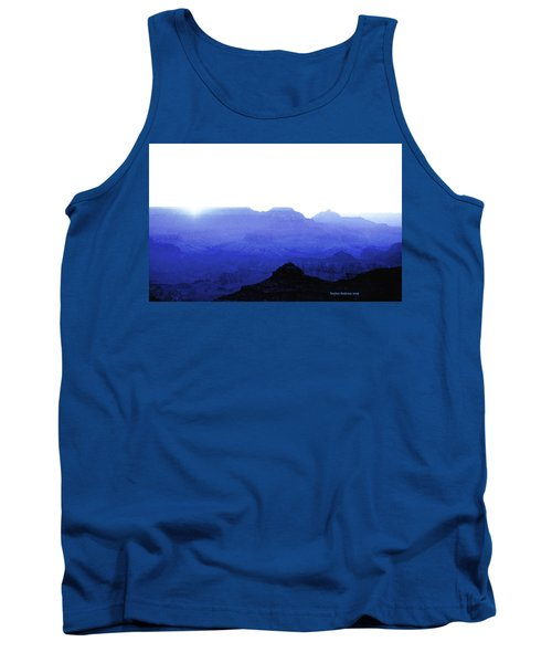 Canyon In Blue Tank Top