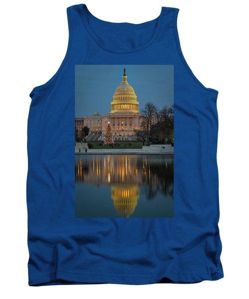Capitol Reflection At Christmas Tank Top