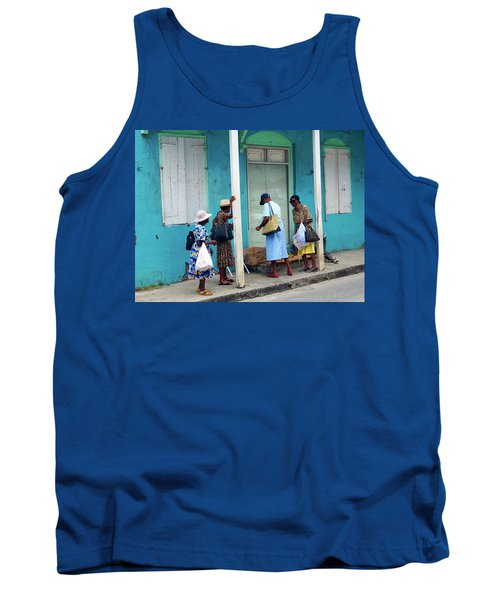 Tank Top featuring the photograph Caribbean Blue, Speightstown, Barbados by Kurt Van Wagner
