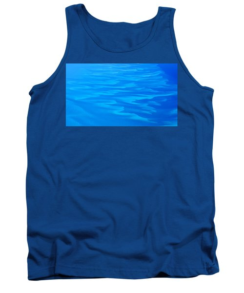 Caribbean Ocean Abstract Tank Top by Jetson Nguyen