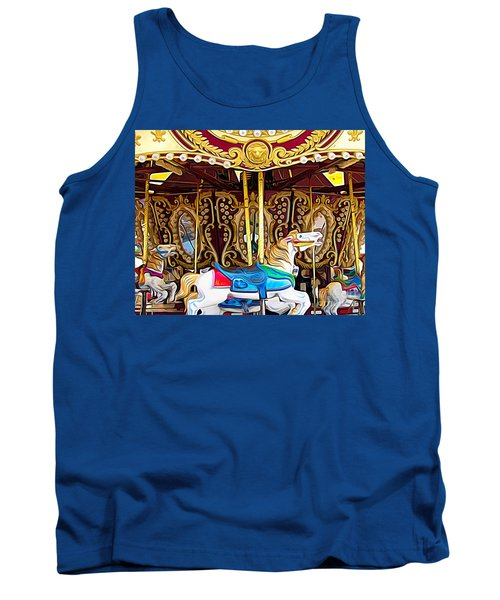 Carousel Erie County Fair 2017 Expressionist Effect Tank Top