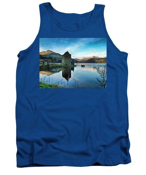 Castle On The Loch Tank Top by Lynn Bolt