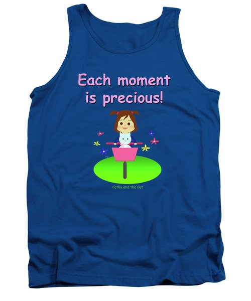 Cathy And The Cat Enjoy Each Moment Tank Top