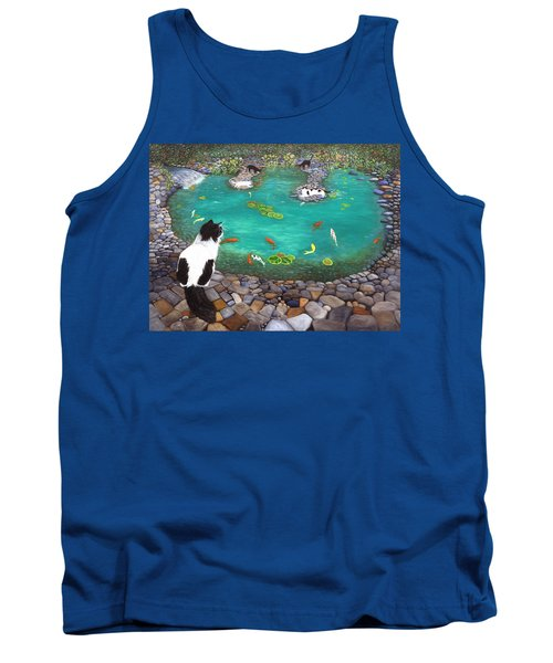 Cats And Koi Tank Top