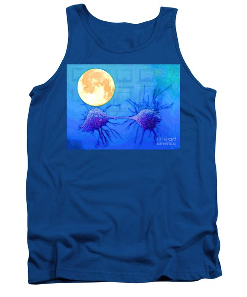 Cell Division Under Full Moon Tank Top by Mojo Mendiola