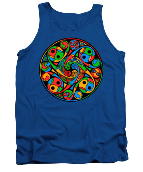 Celtic Stained Glass Spiral Tank Top