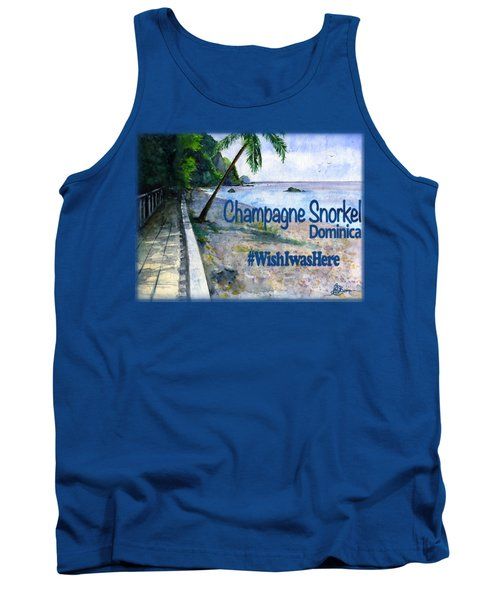Champagne Snorkel Dominica Shirt Tank Top