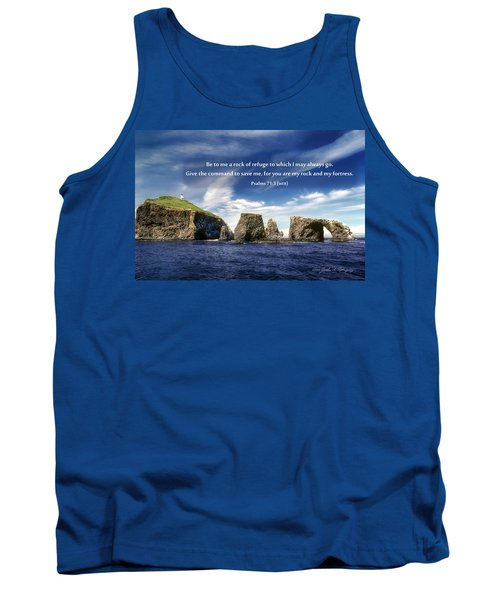 Channel Island National Park - Anacapa Island Arch With Bible Verse Tank Top