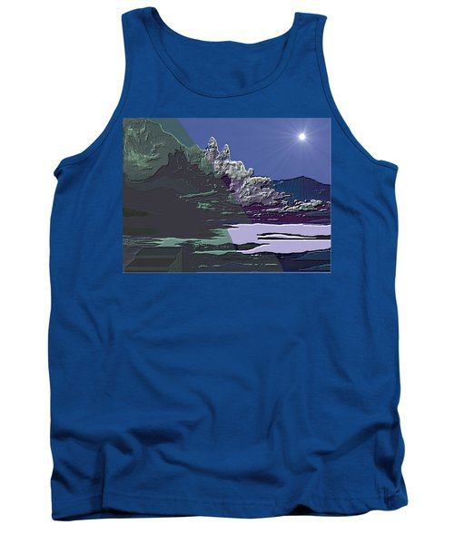 Tank Top featuring the digital art 1978 - Nowhere  by Irmgard Schoendorf Welch