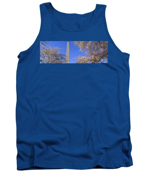 Cherry Blossoms And Washington Tank Top by Panoramic Images