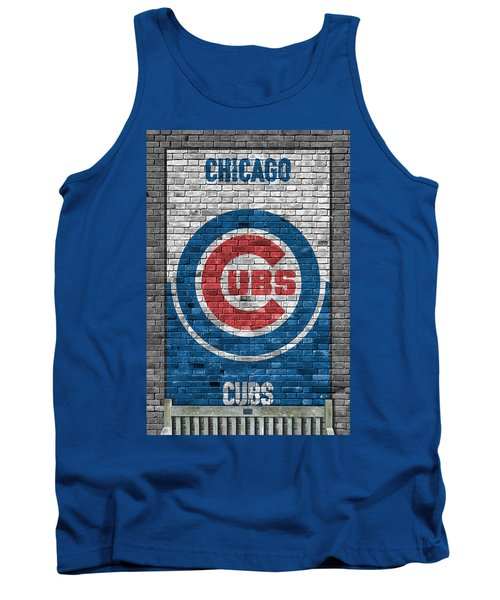 Chicago Cubs Brick Wall Tank Top