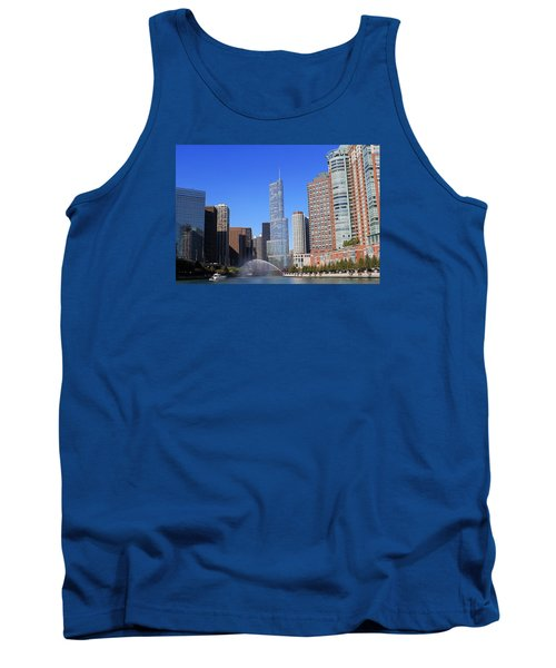 Chicago River Tank Top by Milena Ilieva