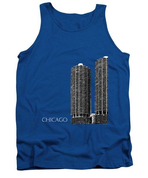 Chicago Skyline Marina Towers - Teal Tank Top