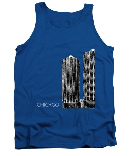 Chicago Skyline Marina Towers - Teal Tank Top