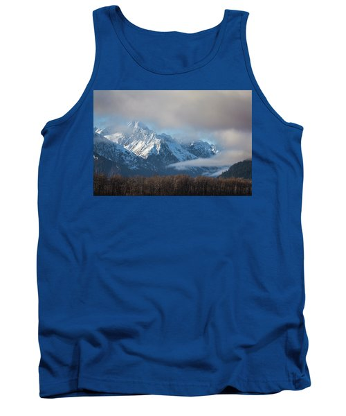 Chilkat Mountains With Clearing Fog Tank Top