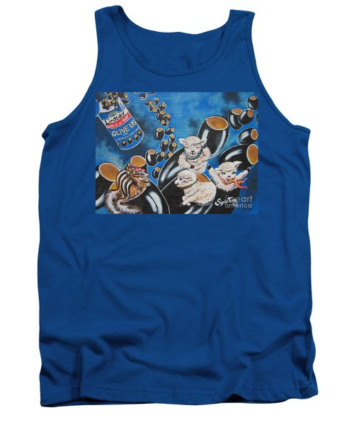 Chip And Dip In Space Olives Tank Top by Sigrid Tune
