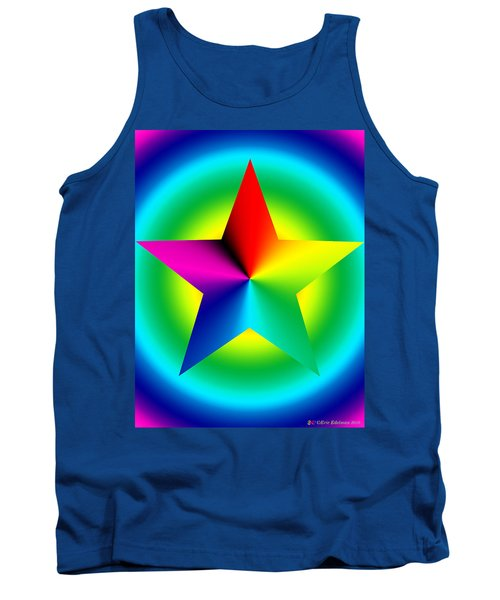Chromatic Star With Ring Gradient Tank Top